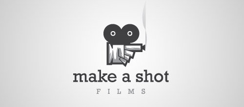 make shot gun logo design