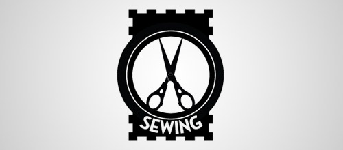 scissors sewing logo designs