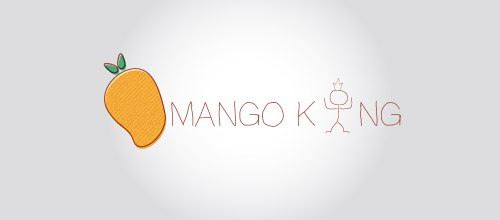 mango king logo design