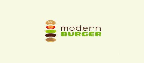 modern burger logo design
