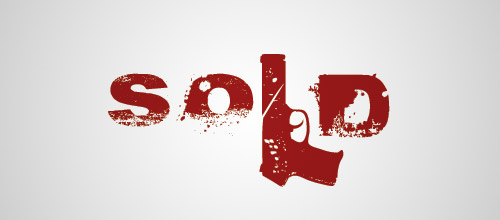 sold gun logo design