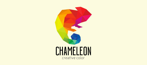 colorful chameleon logo design