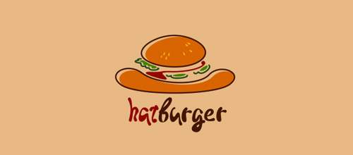 hat burger logo design