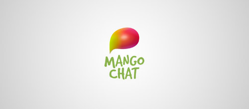 mango chat logo design