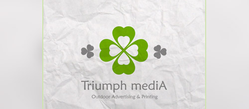 media clover logo designs