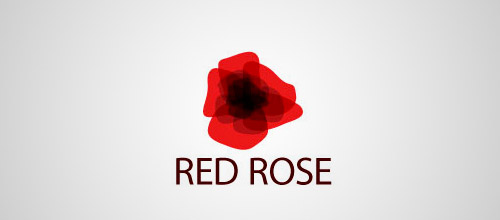 red rose logo design