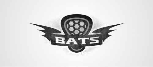 bat lacrosse logo design