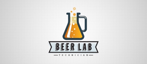 beer lab technician logo designs