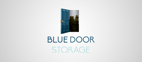 blue door logo designs