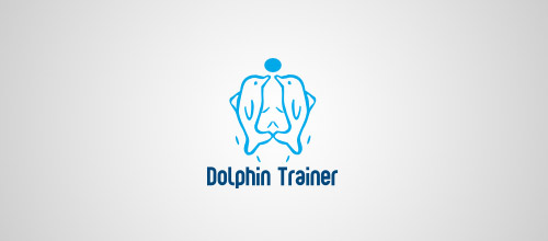 dolphin trainer logo design