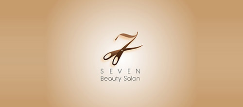 seven beauty salon logo designs
