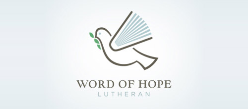 word hope logo design