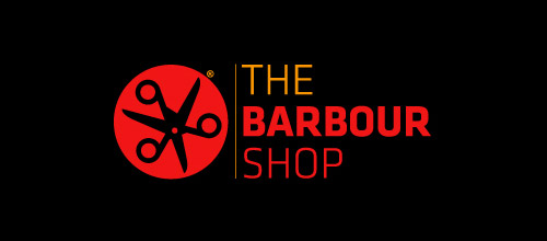 barbour shop scissors logo design