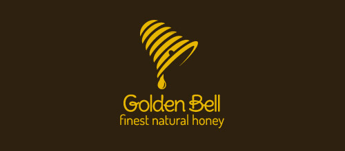 golden bell logo design