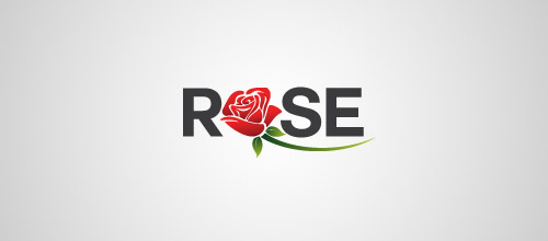 rose typo logo design