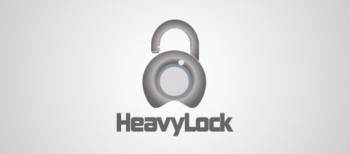 heavy lock logo designs