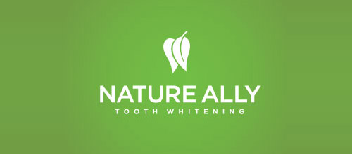 nature ally logo design tooth