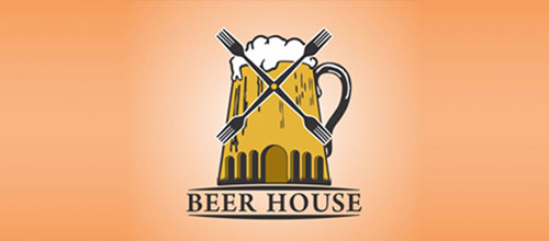 beer house logo designs