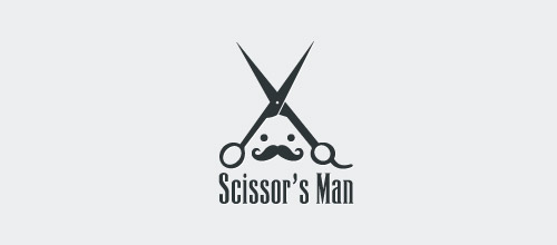 scissor man logo designs