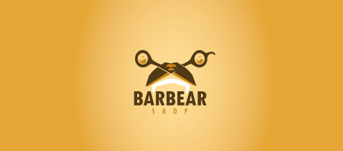 barbearshop scissors logo designs