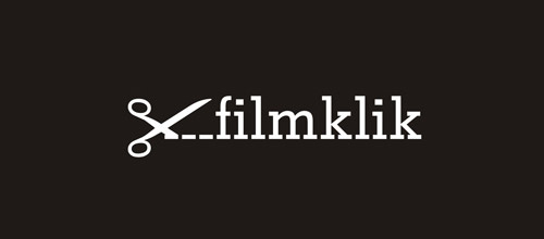 film klik scissors logo design