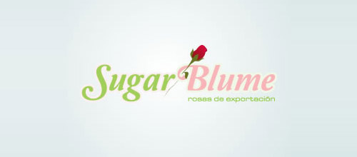 sugar blume logo design