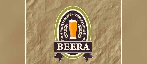 beera beer logo designs