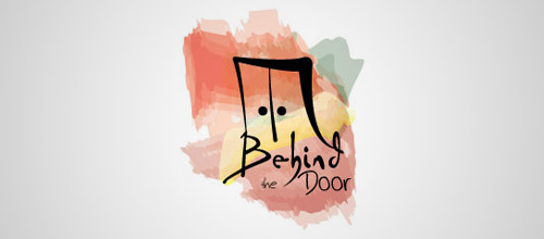 behind door logo designs