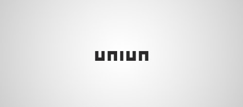 union ambigram logo design