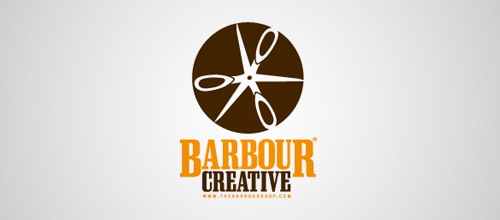 barbour scissors logo design