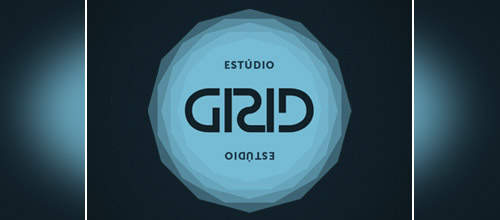 estudio grid ambigram logo design