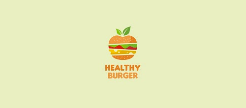 healthy burger logo designs