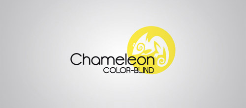 yellow chameleon logo design