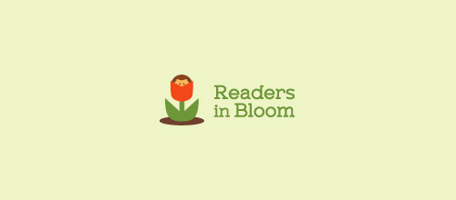 resaders in bloom rose logo design