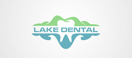 lake dental logo design