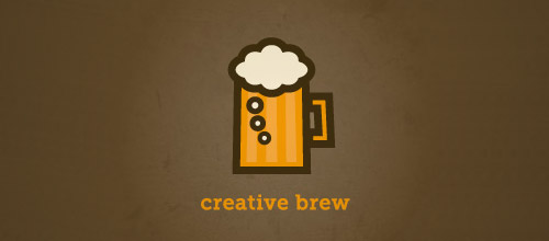 creative brew beer logo designs