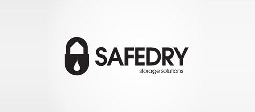 safedry padlock logo designs