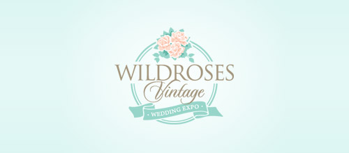 wildrose rose logo design