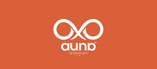 auna ambigram logo designs