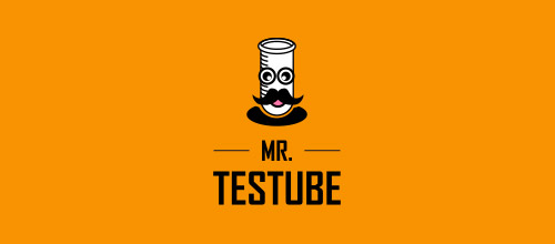 mr test tube logo designs
