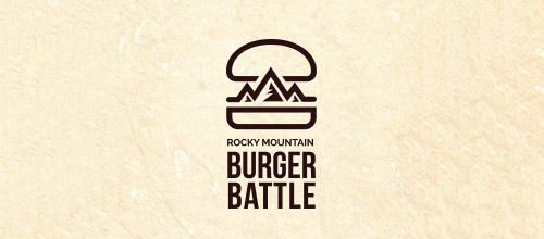 burger battle logo design