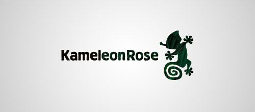kameleon rose logo design