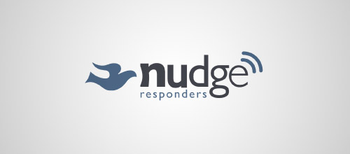 nudge responders logo design