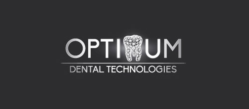 optimum dental logo design