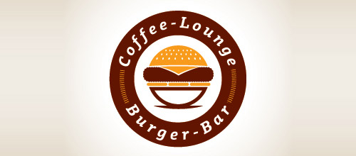 burger cafe logo design