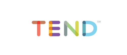 overlapping colorful logo