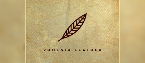 phoenix feather logo design