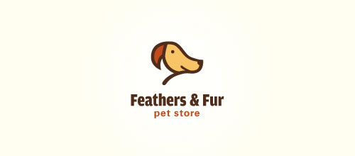 Feathers & Fur logo designs