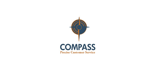 Brown compass logo design collection