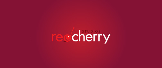 Red studio cherry logo designs